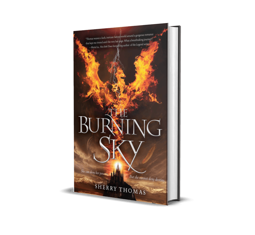 Books Cover of The Burning Sky by Sherry Thomas